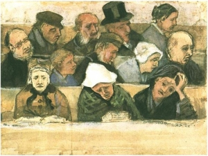 Church-Pew-with-Worshippers